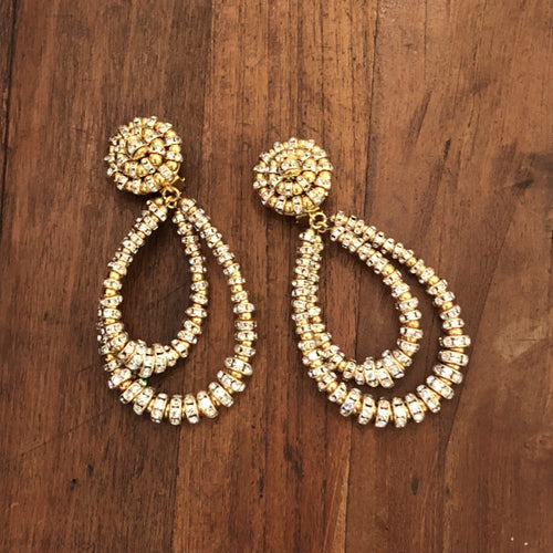 Parisian Chandelier Earrings - Small Gold
