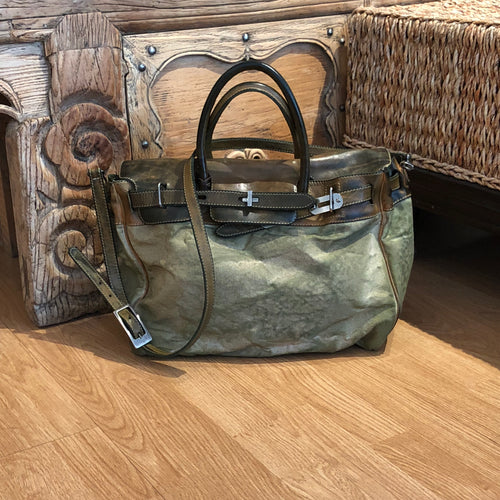 Richmond Canvas Small Tote - Green