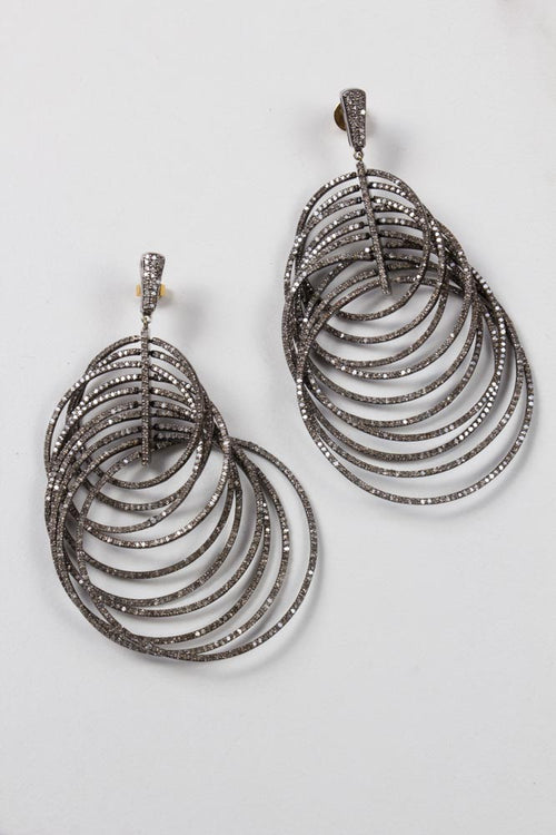 Chandelier Antique Diamond Earrings