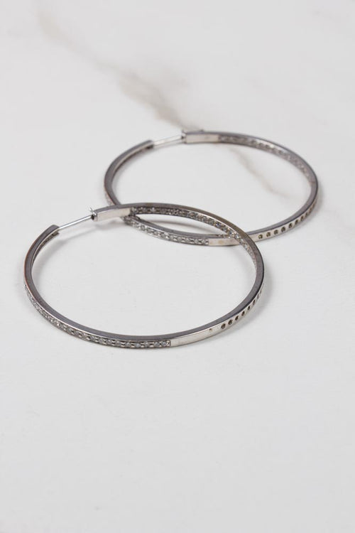 Diamond Hoops , BOHEME FINE JEWELRY - Moda Boheme