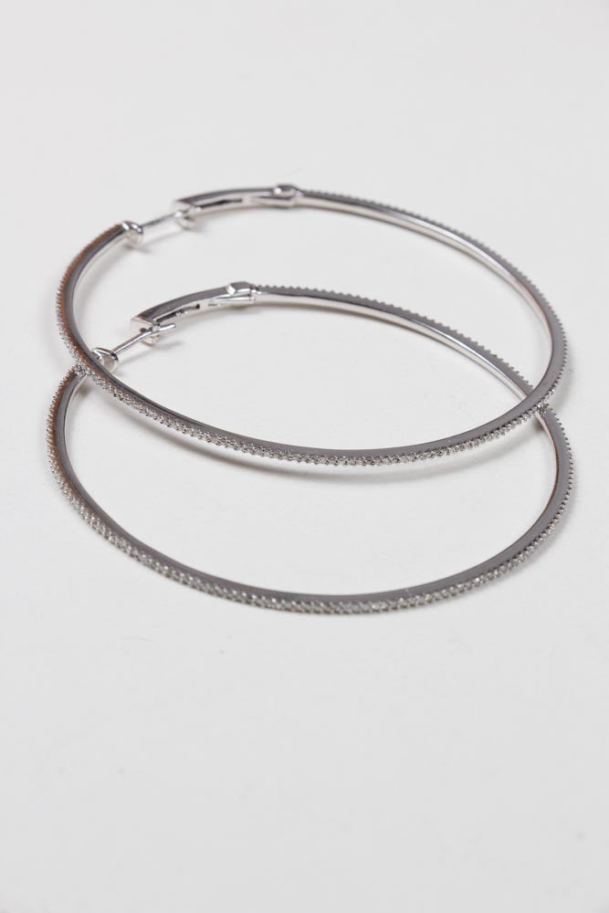 White Gold Diamond Hoop Earrings , BOHEME FINE JEWELRY - Moda Boheme