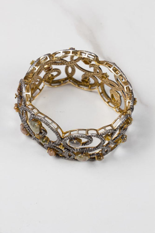 Diamond Cuff in Gold and Sterling Silver , BOHEME FINE JEWELRY - Moda Boheme