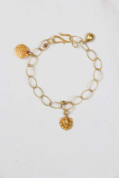 Gold Bracelet with Charms , BOHEME FINE JEWELRY - Moda Boheme