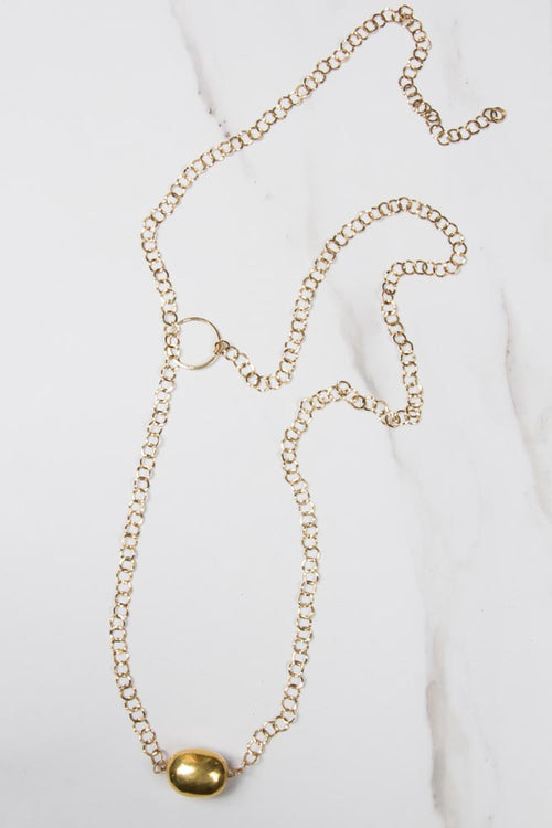 Gold Chain with Gold Nugget , BOHEME FINE JEWELRY - Moda Boheme