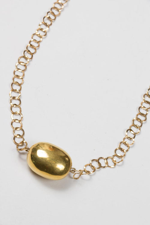 Gold Chain with Gold Nugget