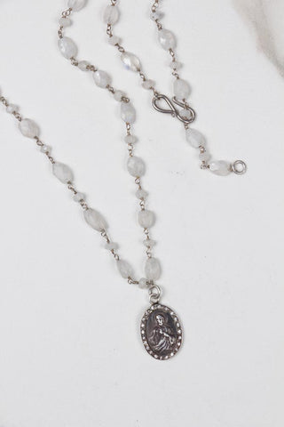 Diamonds & Antique Wood Necklace