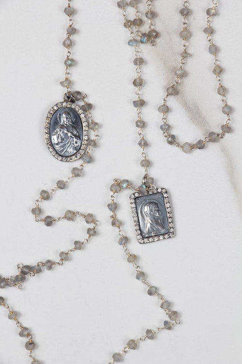 Moonstone & Diamonds Escapulario , BOHEME FINE JEWELRY - Moda Boheme
