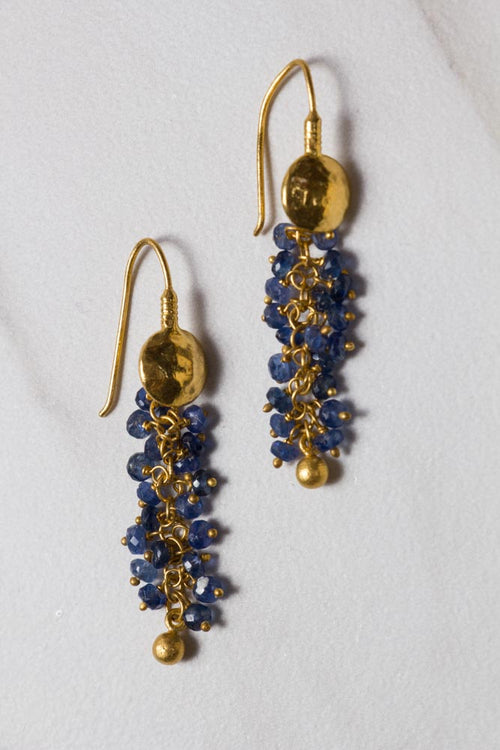 Sapphire Drop Earrings , BOHEME FINE JEWELRY - Moda Boheme
