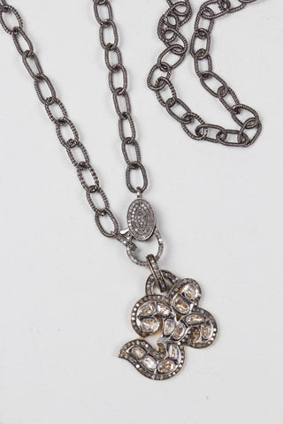 Silver Diamond Chain Necklace