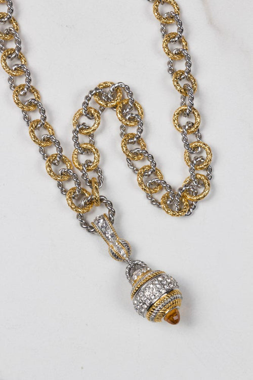 Silver and Gold Plated Necklace