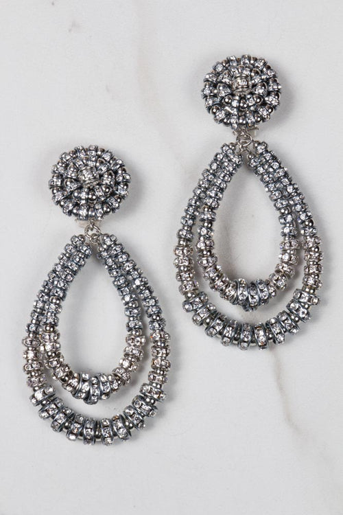 Parisian Chandelier Earrings - Medium silver