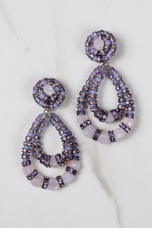 Parisian Chandelier Earrings - Small lavender/Pink