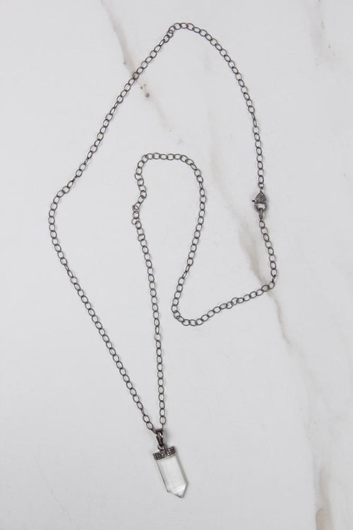 Quartz &  Diamond Pendant Necklace , BOHEME FINE JEWELRY - Moda Boheme