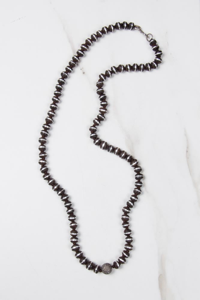Diamonds & Antique Wood Necklace , BOHEME FINE JEWELRY - Moda Boheme