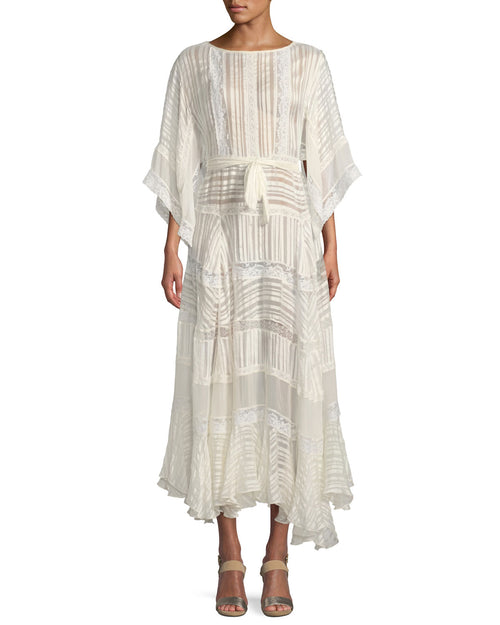 Whitewave Veil Dress - Pearl