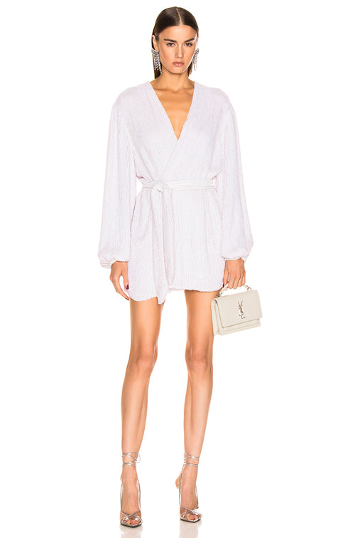 Gabrielle Robe Dress - Pearl White