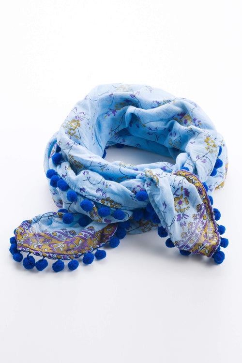 Scarf Chacha - Blue and Blue