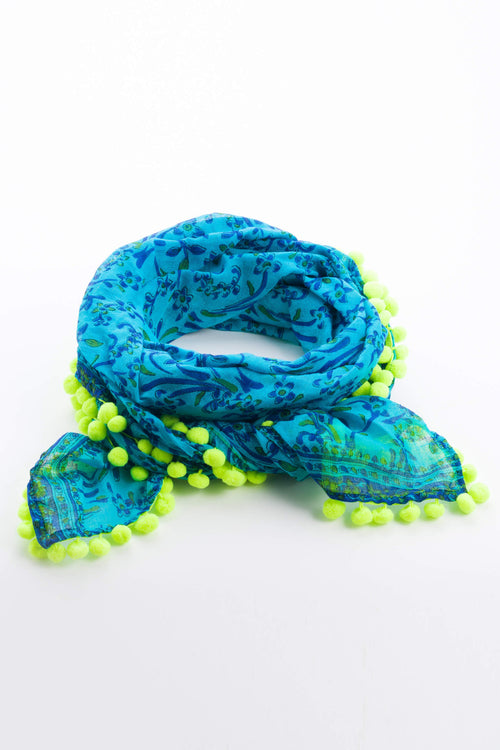 Scarf Chacha - Blue and Green