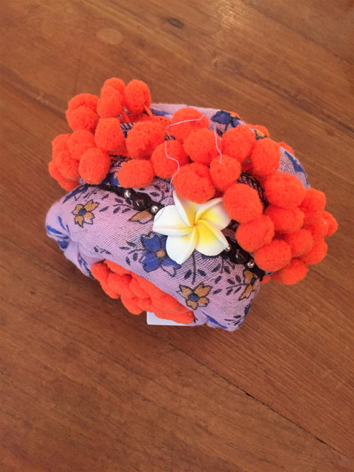 Scarf Chacha - Geranium Pink & Orange