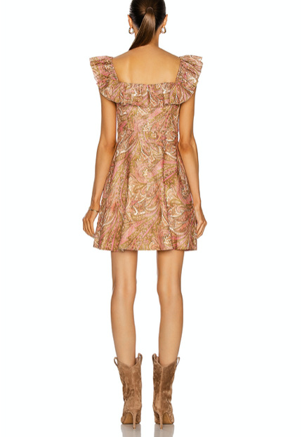 Brighton Ruffle Neck Dress , ZIMMERMANN - Moda Boheme