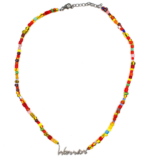 Warrior Diamond Beaded Necklace