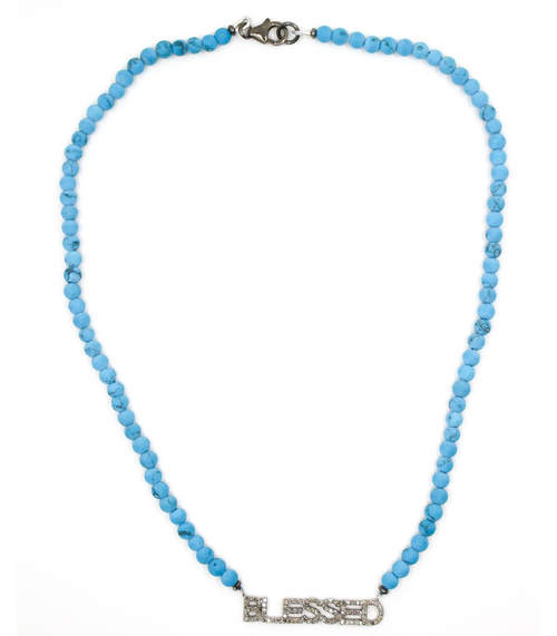 Blessed Diamond  Turquoise Necklace