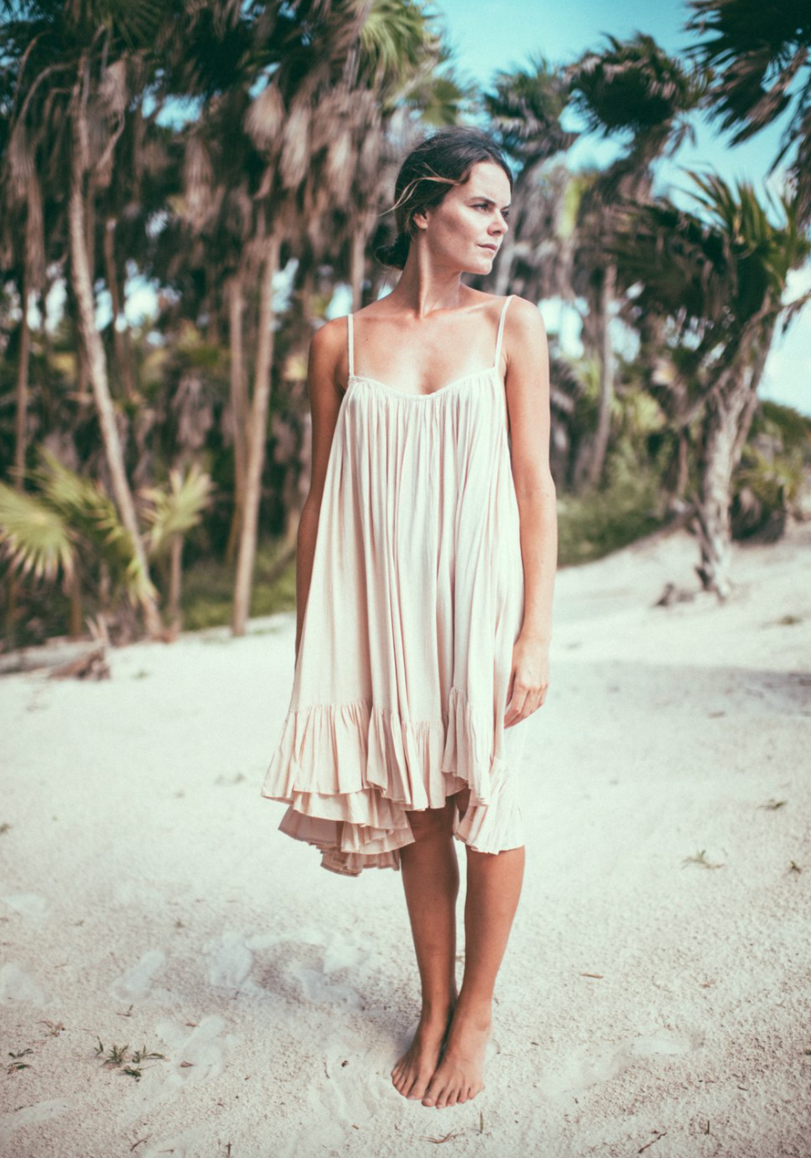 Bohemian Tulum Dress - Short with Ruffles , BOHEME - Moda Boheme