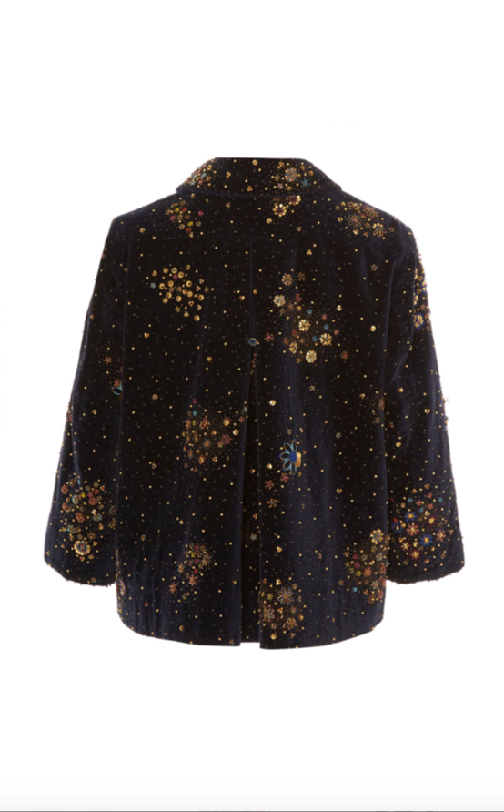 Pero velvet with embroidery jacket