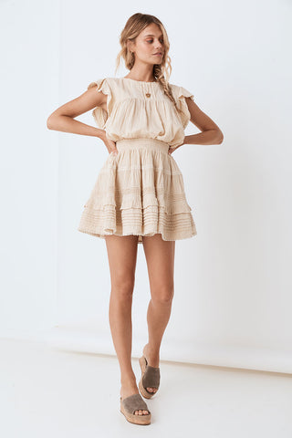Loves Me Not Garden Party Dress - Cream