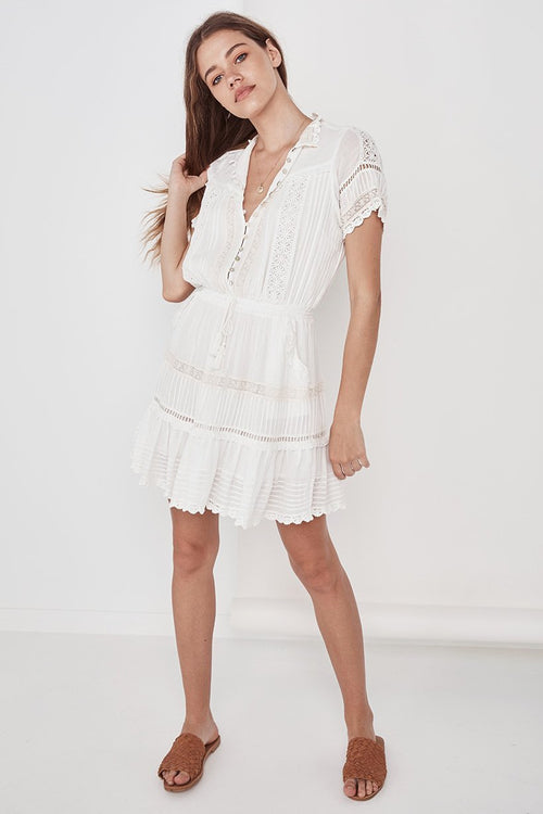 Hanging Rock Lace Playdress - White