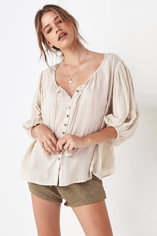 Wrap Silk Blouse