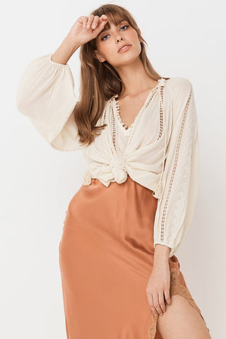 Stevie Top - Porter Cream