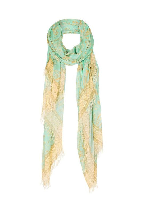 Maisie Travel Scarf - Vintage Turquoise