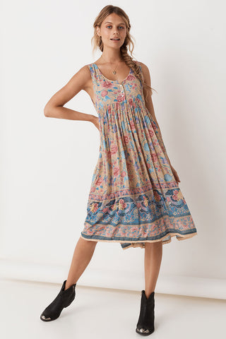 Zinnia Shirred Waist Dress
