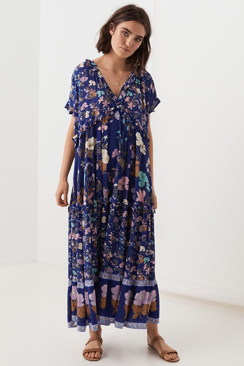 Wild Bloom Gown - Navy
