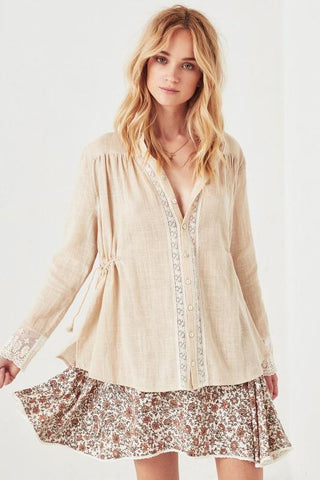 Radiated Wrap Blouse