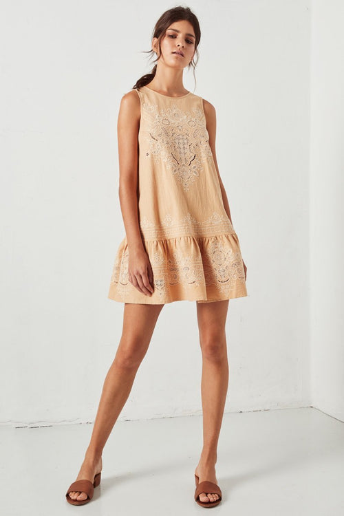 Darling Embroidery Mini Dress