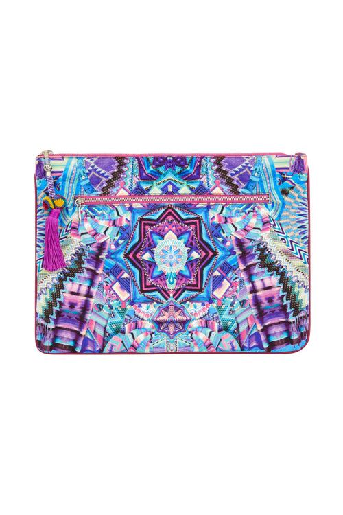 Threads Of Cosmos Large Canvas Clutch