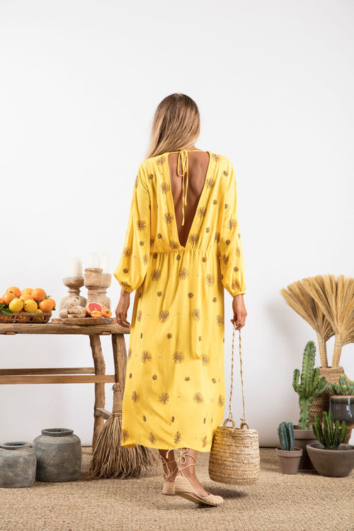 Chicago Long Yellow Dress