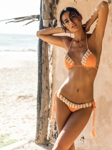 Peri Solo Bikini Top and Mallorca Stripe Lulu Bottom