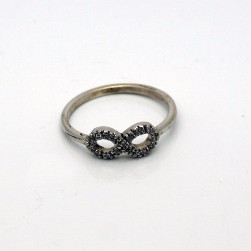 Infinity Silver & Diamonds Ring