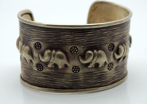 Copy of Antique Silver Elephant Cuff