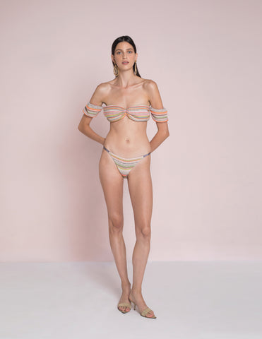 Mallorca Stripe Palua Top and Peri Uno Bottom