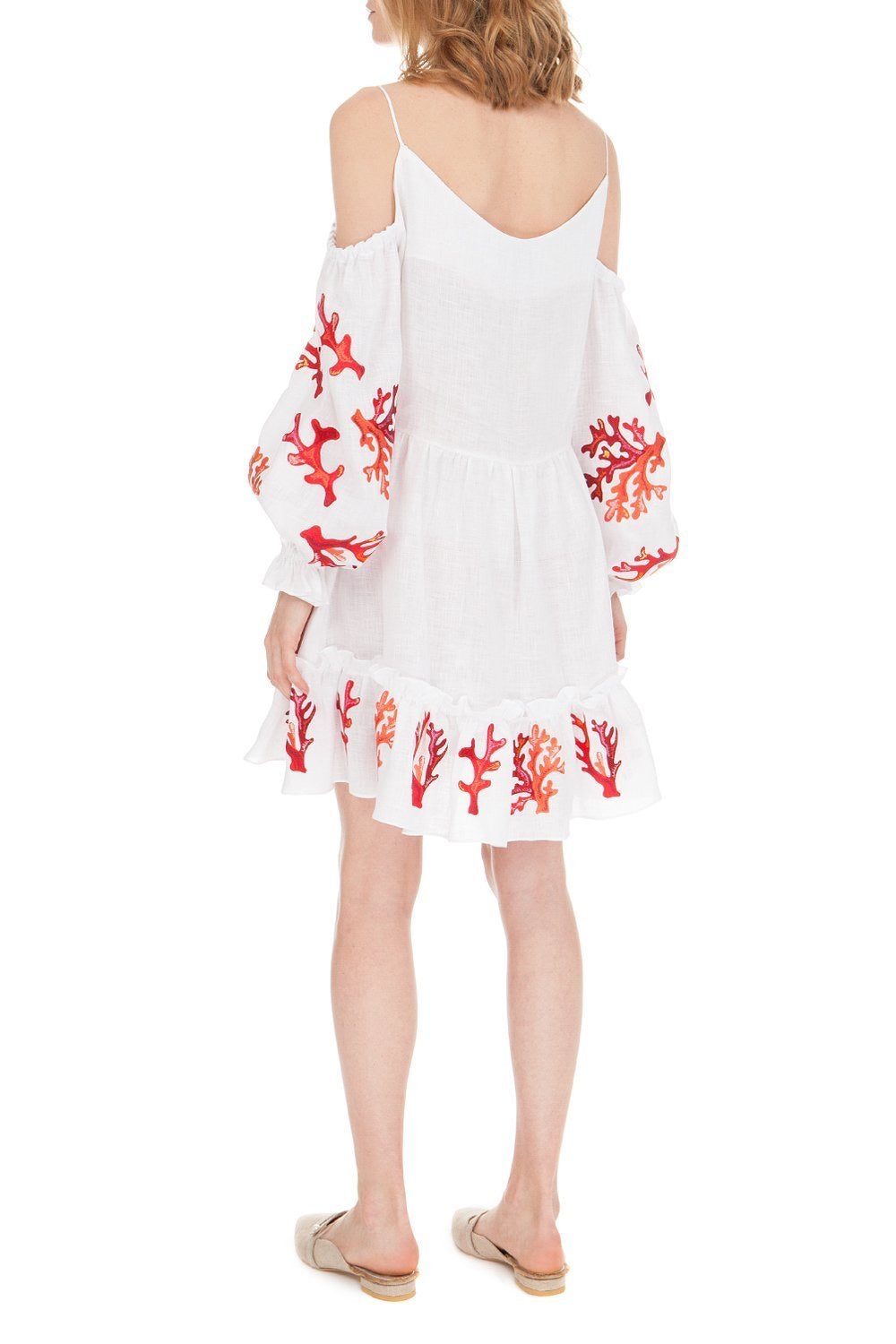 Embroidered Linen Mini Dress , Lee Pfayfer - Moda Boheme