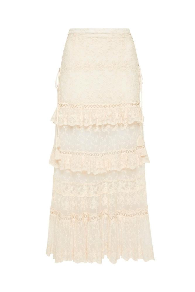 Le Gauze Lace Tiered Skirt , SPELL & THE GYPSY COLLECTIVE - Moda Boheme