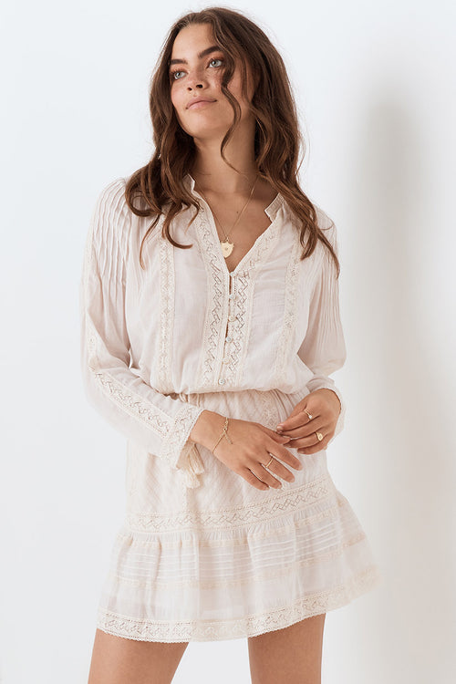 Cinder Blouse - Off White , SPELL & THE GYPSY COLLECTIVE - Moda Boheme