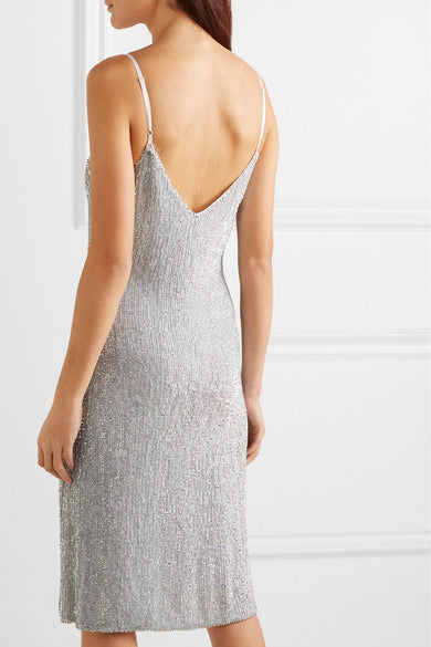 Denisa Dress- Ice Silver