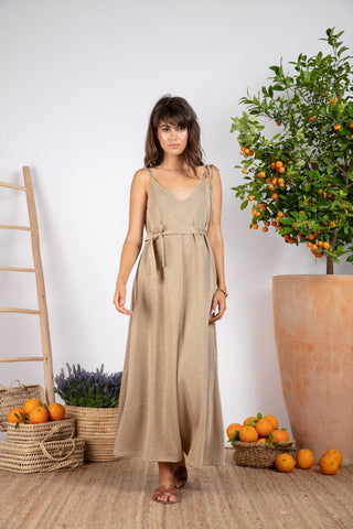 Bianca Strappy Dress - Earth