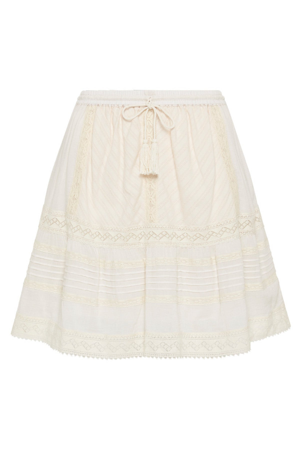 Cinder Mini Skirt- Off White , SPELL & THE GYPSY COLLECTIVE - Moda Boheme