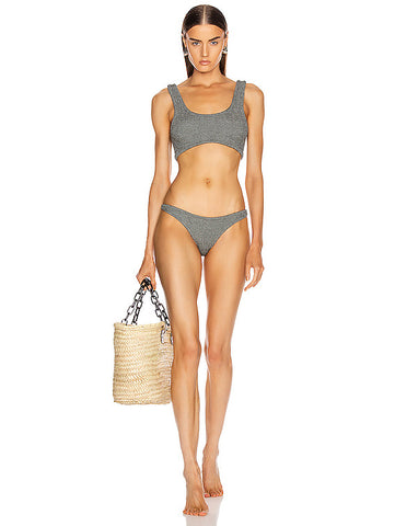 EMBROIDERED LUREX TRIANGLE BIKINI